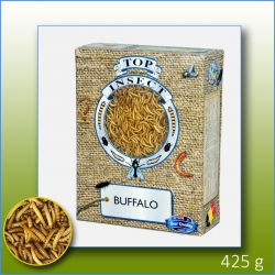 Picture of a box of Frozen buffalo Worms of 425gms