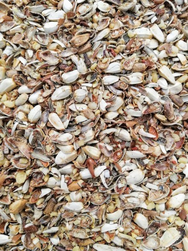 Image close up of actual cardix bird seed mix
