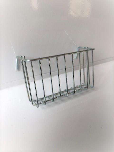 Nesting material wire holder for bird cage