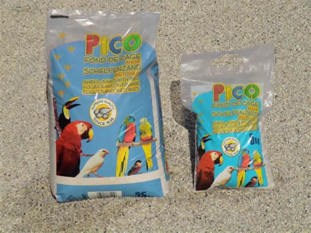 PICO White Shell Sand with Aniseed 2kg - 25kg bags