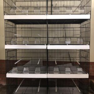 XL cages powder coated in black