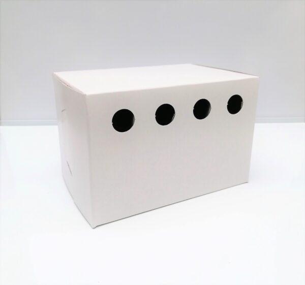 WHITE CARDBOARD BIRD BOX